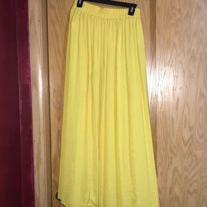 Bright Yellow Maxi Skirt